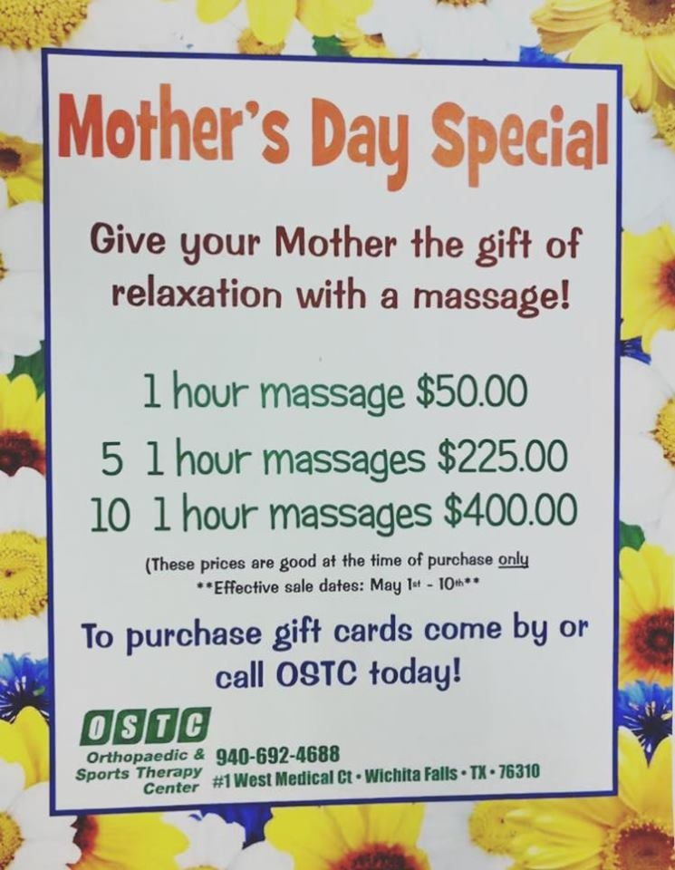 Mothers Day Massage